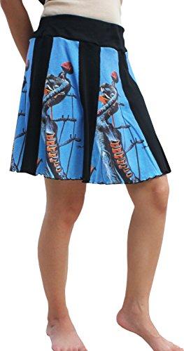 RaanPahMuang Salvador Dali The Burning Giraffe Paneled Short Skirt, Small