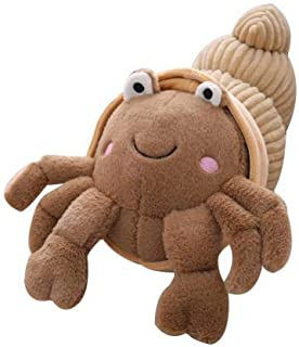 eSunny Soft Breathable Durable Cartoon Vivid Look Cute Plush Hermit Crab Doll Toy Back Cushion Throw Sofa Children Gift Chair Decor Must Haves for Kids Friendship Gifts Toddler Favourite