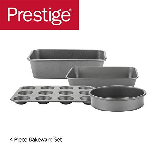 Prestige 66931 Tough & Strong Backformen, verstärkt, antihaftbeschichteter Stahl, 8-teilig, stahl, 4 piece bakeware set