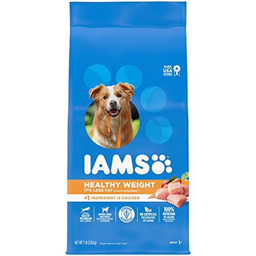 IAMS PROACTIVE HEALTH Adult Healthy Weight Control Dry Dog Food with Real Chicken, 7 lb. Bag