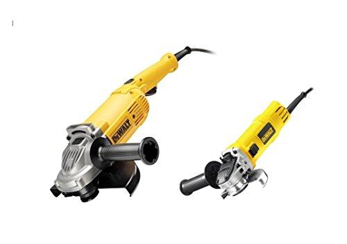 Dewalt DWE492DUO2-QS DWE492DUO2-QS-KIT Amoladoras = DWE492 230mm 2.200W + DWE4157 125mm 900W Suave, Bloqueo y re-Arranque, 2200 W