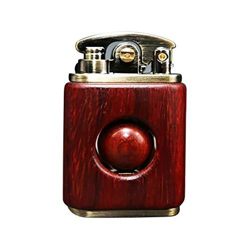 Winkey@ Vintage Cool Feuerzeug, Persönlichkeit Kreative Rote Sandelholz Feuerzeug Dekoration Altmodisches Massivholz, Einzigartige Geburtstagsgeschenke für Männer Papa Ehemann (Kaffee)