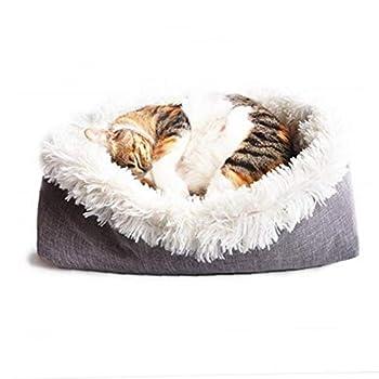 Convertible en peluche Fluffy longue Pet Couvertures Chien Chat Doux Hiver chaud Lit Mat Coussin Sommeil Matelas (Blanc)