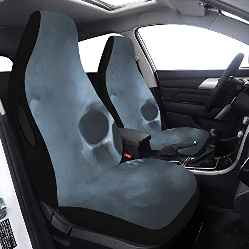 Lowest Prices! Van Seat Covers Skull Cool Bone Scary Tattoo Double Seat Cover 2 Pcs Universal Fit Ai...