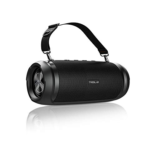 TREBLAB HD-Max - Big Loud Bluetooth Speaker - 50W, 20H Battery, Powerbank, TWS, IPX6 Waterproof | Loud Portable Speaker with Deep Bass | Wireless Outdoor Speakers w/Type-C Connector & Carrying Strap
