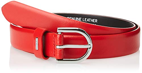 Calvin Klein 2.5cm Feminine Belt Cinturón, Rojo (RED XA8), 90 (Talla del fabricante: 75) para Mujer