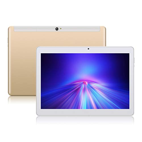 Android 8.1 Tablet 10 Zoll, PADGENE Quad Core CPU Tablet-PC mit Dual SIM Karten Slots, 2.0MP+5.0MP Dual Kamera , WiFi, Bluetooth, GPS (10