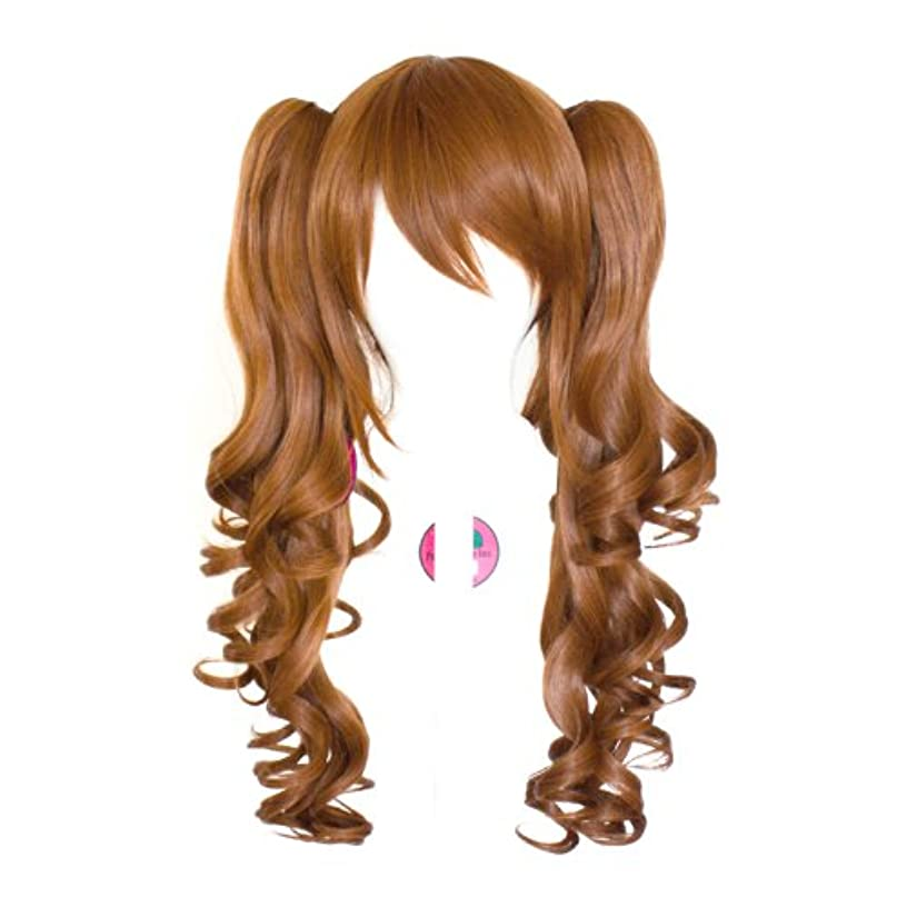 Sayuri - Auburn Brown Wig 23'' Curly Pig Tails + 12'' Bob Cut Base Wig Set