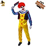 WSJDE Disfraz de Payaso Asesino para Adultos Disfraz de Payaso Colorido para Hombres Disfraces de Halloween Talla única FF422