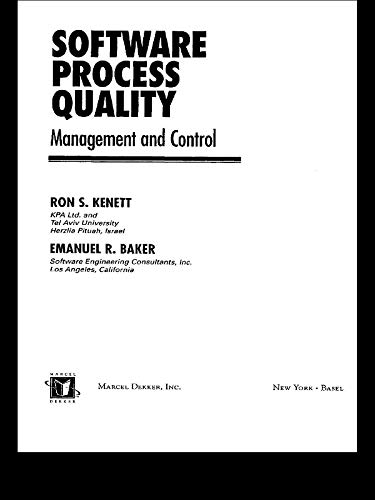 Software Process Quality: Management and Control (Computer ...