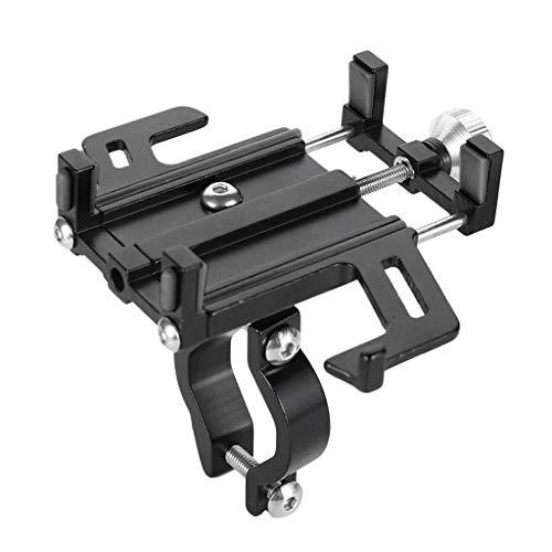 BLEUNUIT Soporte para teléfono, aleación de Aluminio Soporte para teléfono para Bicicleta Soporte para Manillar de Motocicleta para iPhone-Negro