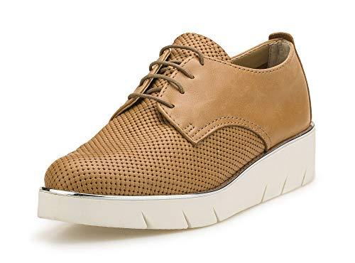 The FLEXX Sendra Zapato Cordones Mujer Cognac 41 EU