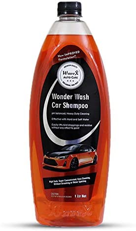 Wavex® Wonder Wash Car Shampoo (1L) pH Neutral Formula For Safe, Spot Free Cleaning - Honey Thick, Luxurious Suds Tha...