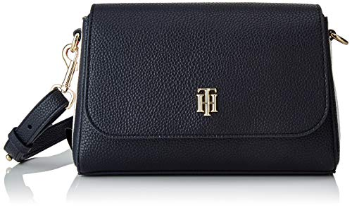 Tommy Hilfiger Damen TH Essence Flap Crossover Taschen, Captain Corp Sky, One Size
