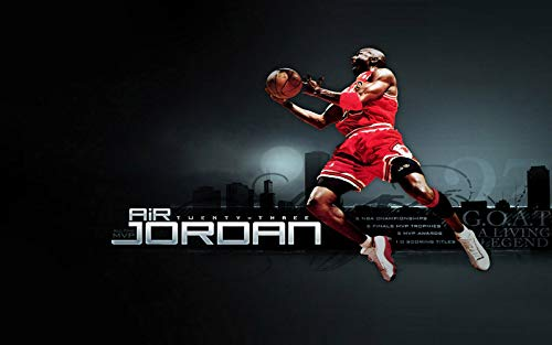 ZH Wooden Jigsaw Puzzles, Basketball Star Michael Jordan 3D DIY Puzzles, Poster Illustration, Casual Toys for Family Friends Fans Gifts Home Decoration,300 pieces