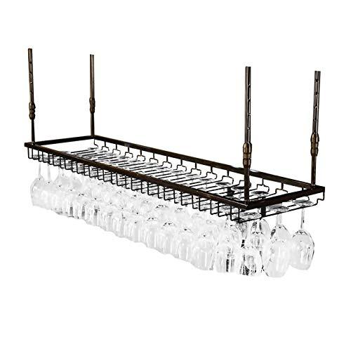 Estantes colgantes para copas de vino Rack de vino retro montado en la pared - soporte de la taza de la suspensión de la suspensión, soporte de exhibición colgante de hierro forjado, estantería de dec