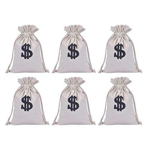 STOBOK Bolsa de Regalo para Fiestas de Cumpleaos 30CM Bolsa de Disfraz para Ladrones de Bancos Bolsa de Regalo para Fiestas de Bodas 6 Piezas