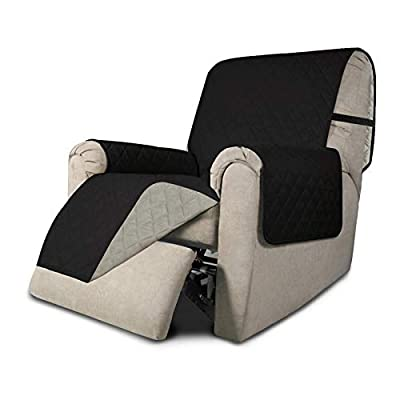 Easy-Going Recliner Sofa Slipcover Reversible Sofa Cover Furniture Protector Couch Cover Water Resistant Elastic Straps PetsKidsDogCat