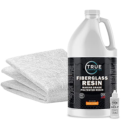"Fiberglass Repair Kit - 1 Gallon of Polyester Resin .75 oz CSM Fiberglass Chopped Strand Mat x38"" Wide x5 Yards Long (15 Feet)"