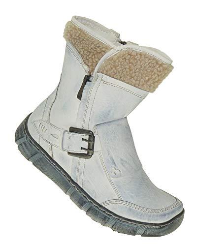 Bootsland 953 Winterstiefel Damenstiefel Stiefel Winterschuhe Damen, Schuhgröße:38