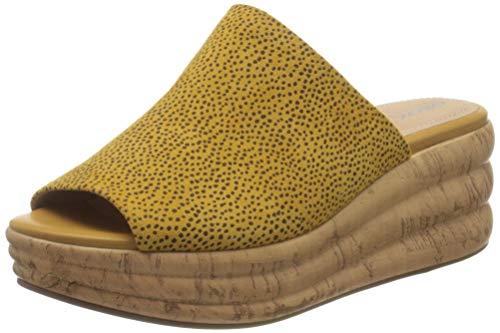 Geox D Primula Sandalo D, Sandalias con Plataforma Mujer, Amarillo (Ochre C2112), 36 EU