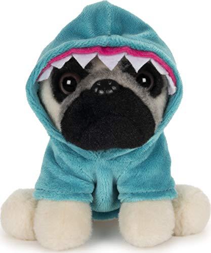 "GUND Doug The Pug Shark Dog Stuffed Animal Plush, 5"""