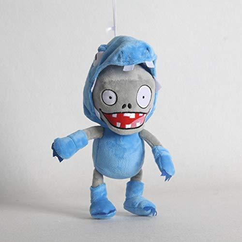 FENGHE Piante Vs Zombie Peluche più Nuovo Piante Contro Zombi Giocattolo di Peluche 30cm PVZ Blue Rascal Zombie Plush Doll per Bambini Regalo per Bambini