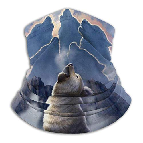 Neck Gaiter Balaclava Leader Of The Pack Wolf Mountain Neck Warmer Microfiber Tube Scarf Multifunctional Bandana Stylish Facial Shield For Outdoor Sports Hunting