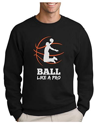 Green Turtle Sudadera para Hombre- Baloncesto Regalos Originales Idea Regalo Jugador Baloncesto - Basketball Fans X-Large Negro
