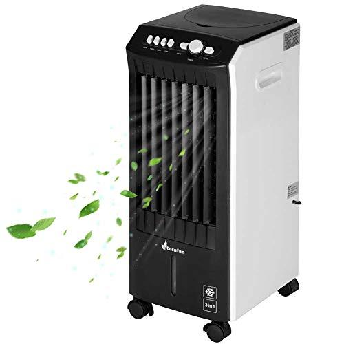 Bakaji Raffrescatore Rinfrescatore Ventilatore Umidificatore d'aria Air Cooler Massima Potenza Raffreddamento ad Acqua con serbatoio Ghiaccio Acqua, Timer