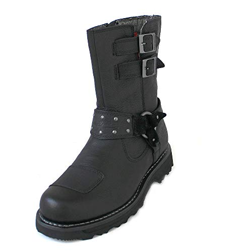 Harley Davidson Womens Marmora Black Leather Boots 40 EU