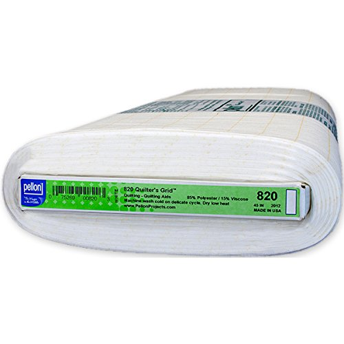 Pellon 44 x 25 Yd suivent Grille de Disposition Non tissé thermocollant, Blanc