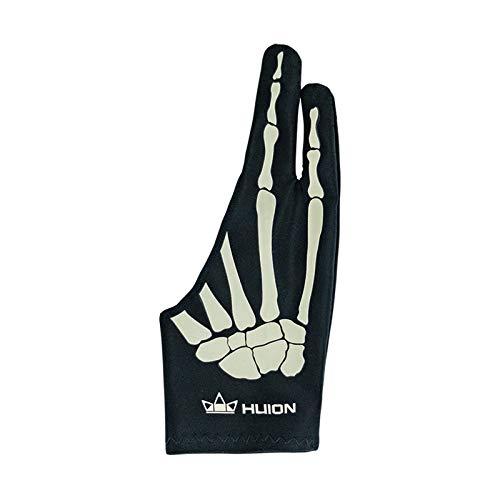 Huion Skeleton Glove para Tableta Gráfica de Dibujo, Guante Antiincrustante Ideal para Personas que Usan Tabletas de Dibujo y Cajas de luz (1 Unidad de Tamaño Libre, Bueno para la Mano Derecha)