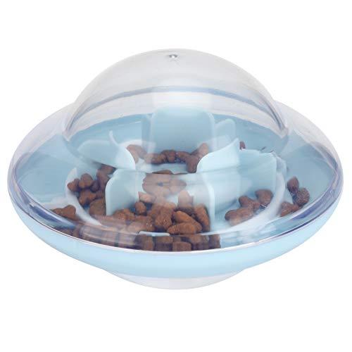Mothinessto Boule d'alimentation pour Chien Longue durée de Vie Chien Balle à Alimentation Lente en Plastique Distributeur de Nourriture pour Chien Balle Professionnelle pour Animaux de(Blue)