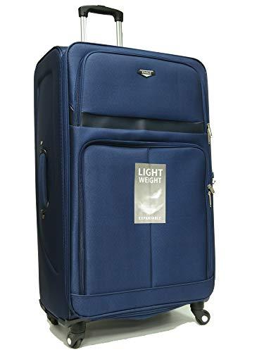 4 Wheel Spinner Hand Luggage Set Lightweight Suitcase Travel Bag Flight case (Navy, XL 32')