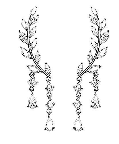 Oorbellen - lichtpunten - meisje - zilveren kleur - druppels - vrouw - hangers - elegant - cadeau-idee - verjaardag - kerstmis strass