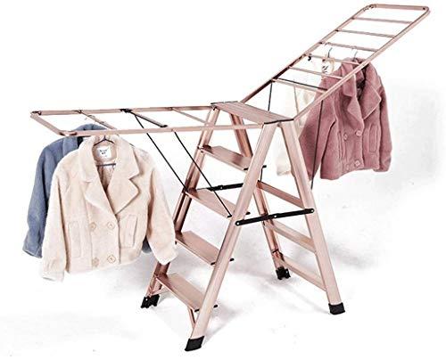 WYKDL Rango de Trabajo escalera con plataforma plegable del hogar taburete de paso ancho pedal robusto Escalera del Mango antideslizante de múltiples funciones plegable de aluminio PORTAESCALERAS Tend