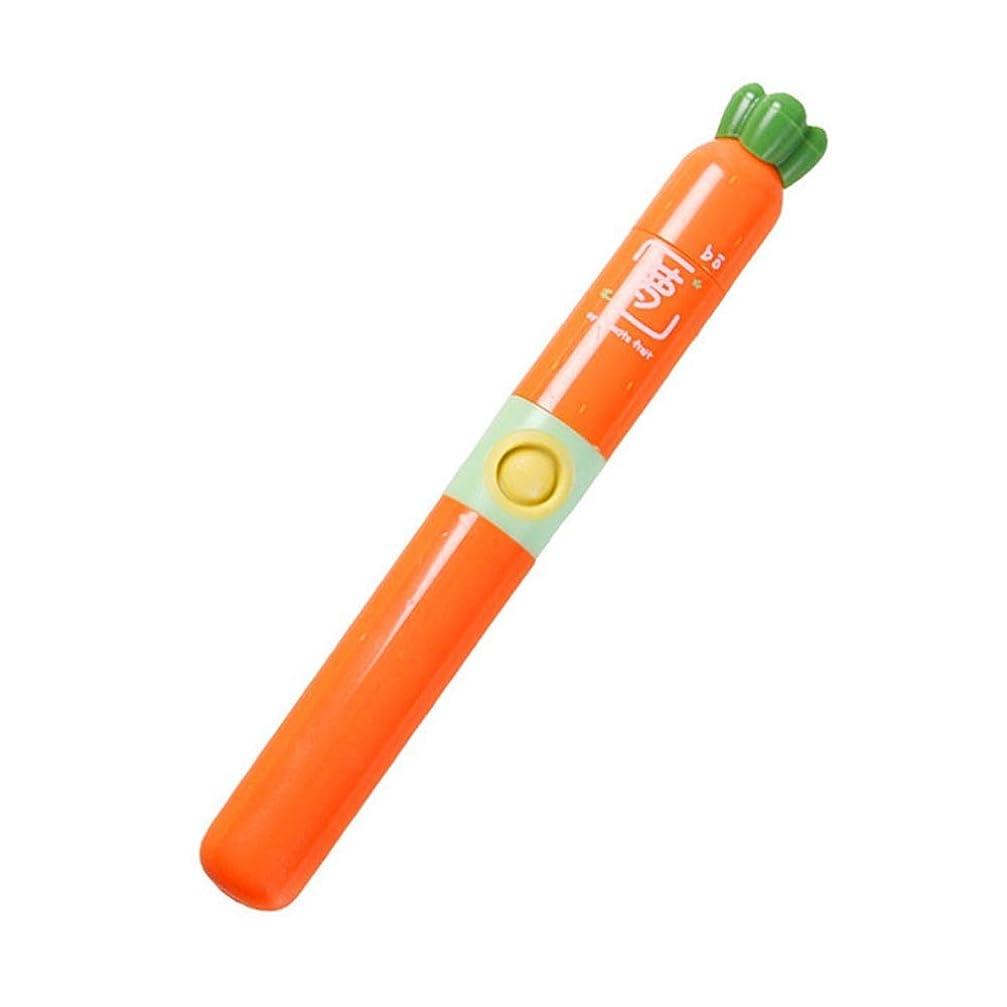 シャー瞬時に口述耐久性のある子供用電動歯ブラシ歯ブラシを白くする防水ソフトヘア 完璧な旅の道連れ (色 : オレンジ, サイズ : Free size)