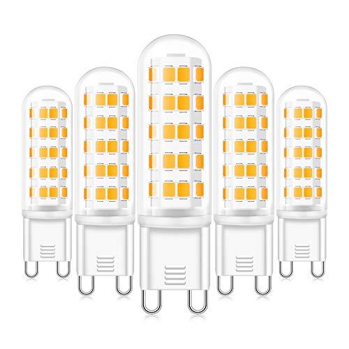 G9 LED Dimmbar Lampen 6W Warmweiß 3000K 520LM Ersatz für 40W 50W 60W G9 Halogen Lampen, Standard G9 Sockel, AC220-240V, 360 ° Abstrahlwinkel, CRI 83 LED G9 Leuchtmittel, 5er Pack