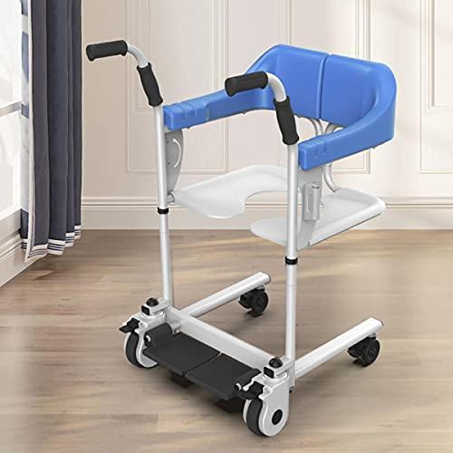 FANGX Sollevatore Disabili Manuale, Sedile Morbido,Padella, Rotella Universale Mute, Regolazione A 9 Livelli, Apertura E Chiusura A 180°,per Infermieri Anziani Paralizzati, Disabili,Carica 220Ib