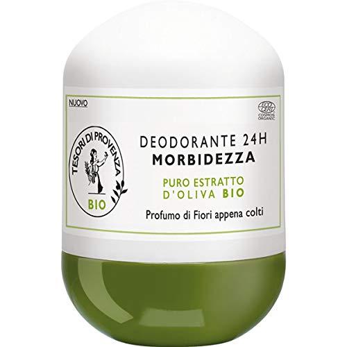 Tesori di Provenza Deodorante BIO , Efficacia e Freschezza a Lunga Durata, con Olio d Oliva Biologico, Ricco in Polifenoli Antiossidanti, 50 ml
