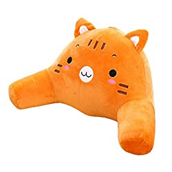 Animal Tiger Bedrest pillow for Reading in right Posture with Arm Pillow.  Soft Back Support Kids.