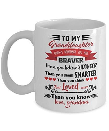 Braver Stronger Granddaughter Coffee Mug Gift Love Grandma Grandmother
