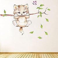 ウォールステッカー背景の装飾のための漫画の猫のステッカーパターンウォールステッカー