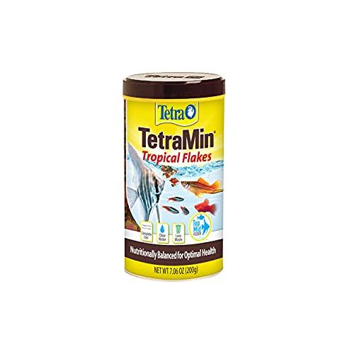 Tetra 16106 Min Tropical Flakes, Nutritionally Balanced Fish Food, 7.06-Ounce