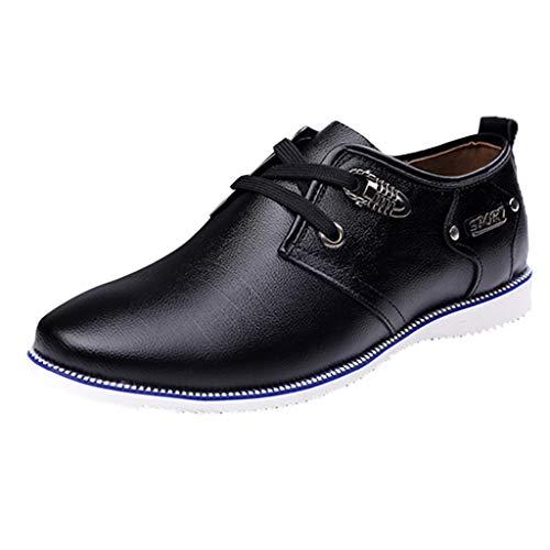 Clearance Sale ODRD Männer Schuhe Herren Shoes Lässige atmungsaktive Herrenschuhe aus Leder mit rundem Kopf und Schnürung aus Wildleder Worker Boots Laufschuhe Combat Sportschuhe Wanderschuhe Sports