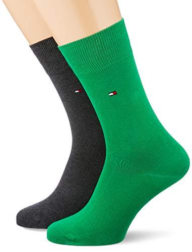 Tommy Hilfiger Herren TH Men Classic 2P Socken, Mehrfarbig (Blackgreengrey 284), 43/46 (Herstellergröße: 043) (2er Pack)
