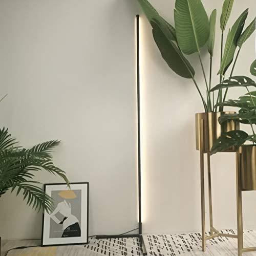 Lámpara de piso Sala lineal Lámpara de pie moderna simplicidad de noche dormitorio de la lámpara LED vertical decorar lámpara de pie (Color : Black)