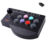 【WIDELY COMPATIBLE】: Arcade Fight Stick is suitable for PS3 / PS4 / XBOX ONE / Nintendo Switch / PC Windows (7/8/10) / Android TV Box / Android Phone (OTG function required). Please note: does not support any MAC and IOS system devices. 【TURBO & MACR...