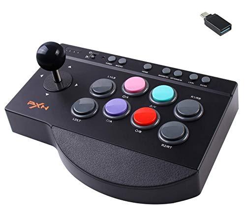 Arcade Fight Stick PXN Street Fighter Arcade Joystick de combat avec port USB, avec fonctions Turbo & Macro, convient pour PS3 / PS4 / Xbox ONE/Nintendo Switch/PC Windows.